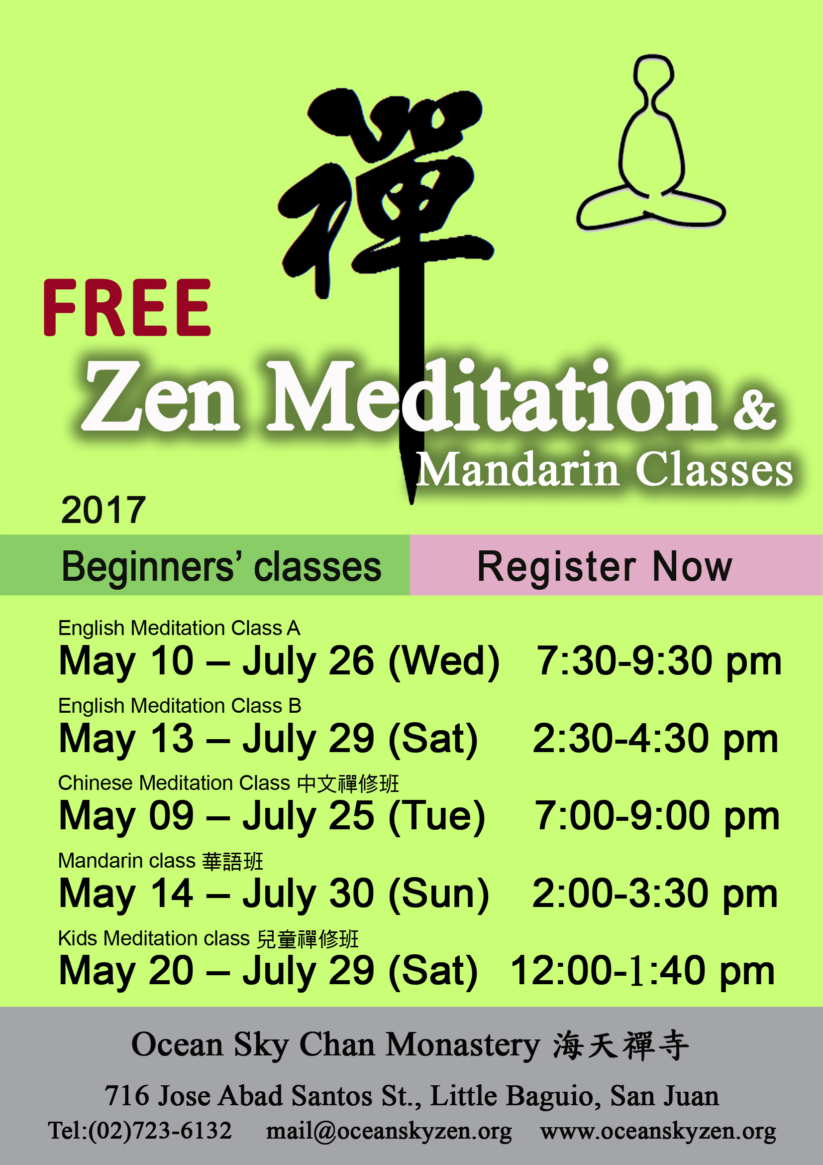 2017 Zen Classes, Second Term