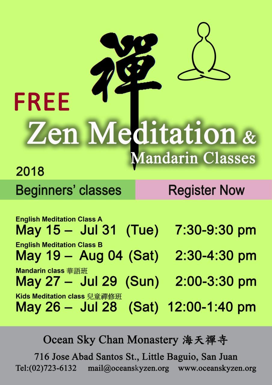2018 Zen Classes, First Term